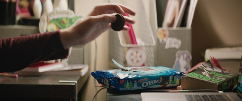 Oreo Cookies Held by Nick Robinson in Love, Simon (2018) - Movie Product Placement