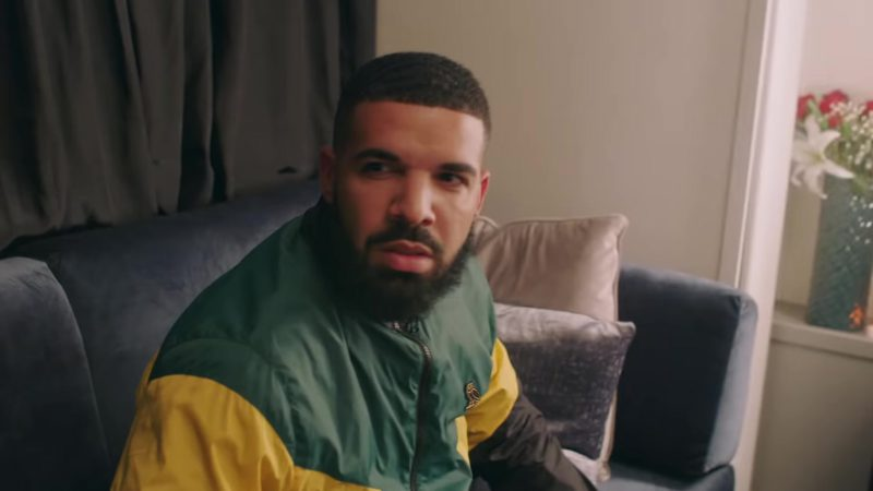"October's Very Own (OVO) Green/Yellow Kingston Full Zip Jacket (Windbreaker) Worn by Drake in ""In My Feelings"" (2018) Official Music Video Product Placement"