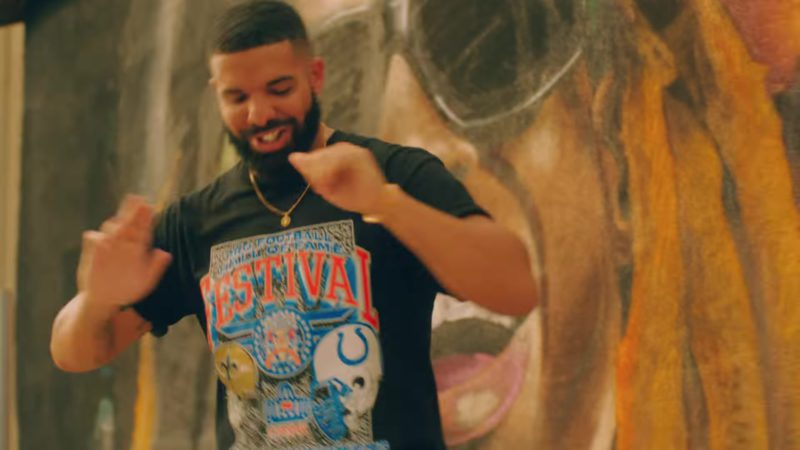 "Pro Football Hall of Fame Festival T-Shirt Worn by Drake in ""In My Feelings"" (2018) Official Music Video Product Placement"