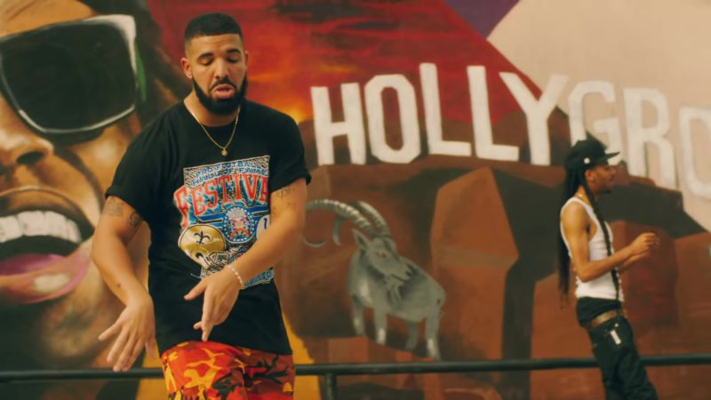 "Pro Football Hall of Fame Festival T-Shirt Worn by Drake in ""In My Feelings"" (2018) Music Video Product Placement"