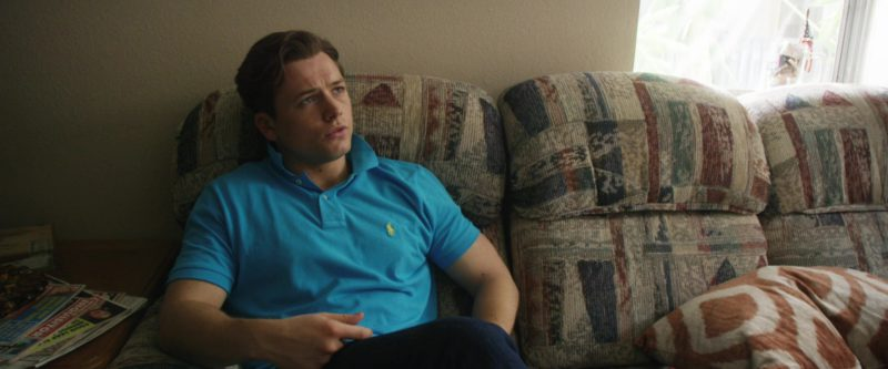 Ralph Lauren Blue Polo Shirt Worn by Taron Egerton in Billionaire Boys Club (2018) - Movie Product Placement