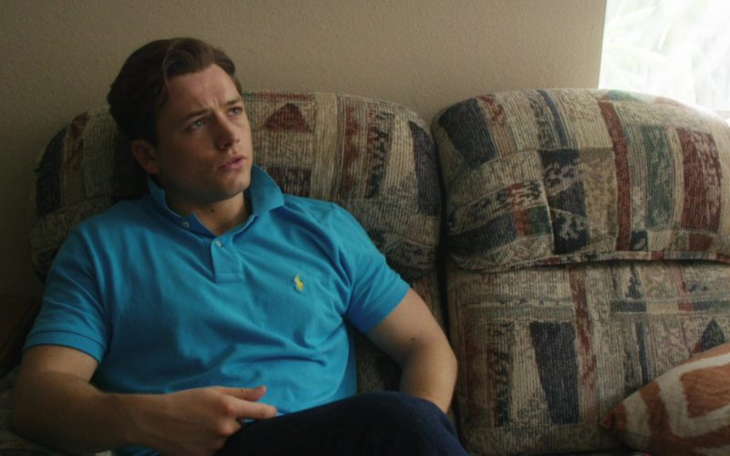 Ralph Lauren Blue Polo Shirt Worn by Taron Egerton in Billionaire Boys Club (5)