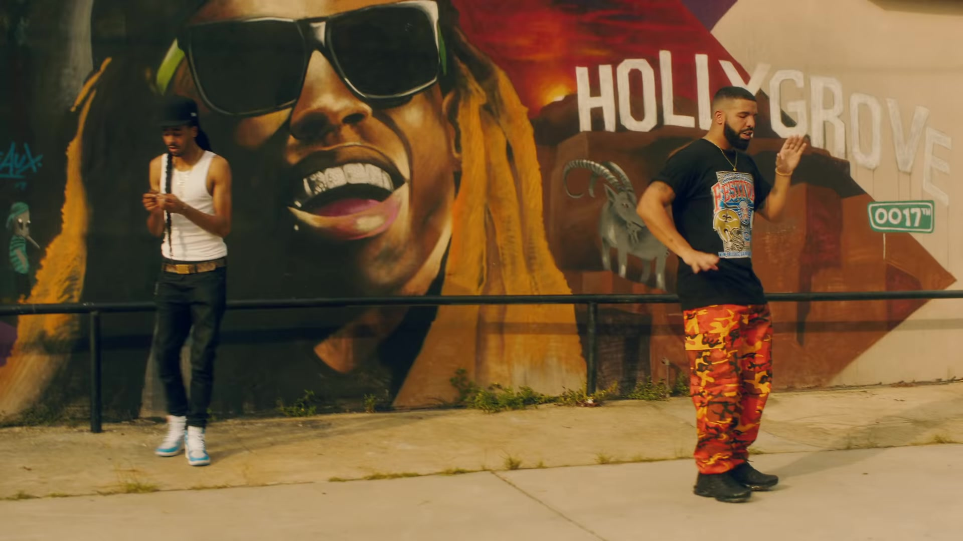 """e3eb895c Rothco Savage Orange Camo Tactical Pants Worn by Drake in """"In My Feelings"""" ("""