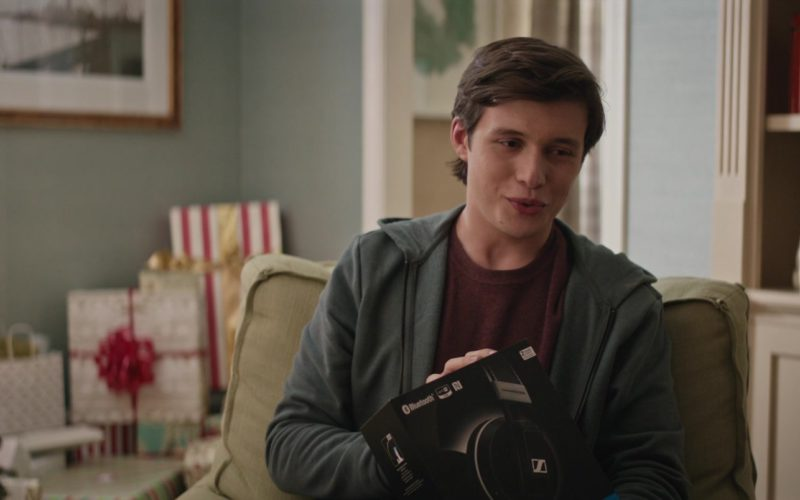 Sennheiser Headphones Held by Nick Robinson in Love, Simon