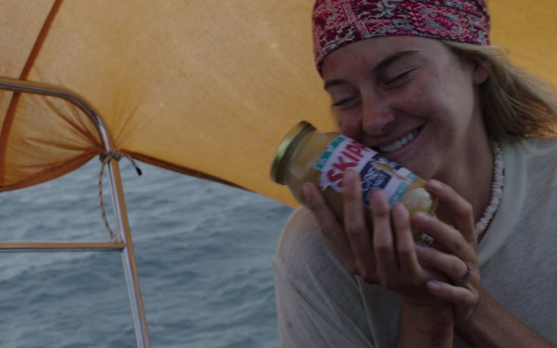 Skippy Peanut Butter Held by Shailene Woodley in Adrift (7)