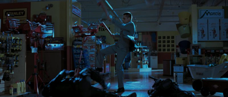 Stanley Hand Tools, Hilti, Rayovac, Mantis Garden Tools in Mr. & Mrs. Smith (2005) - Movie Product Placement