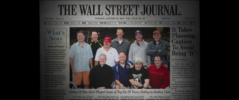 The Wall Street Journal in Tag (2018) Movie Product Placement
