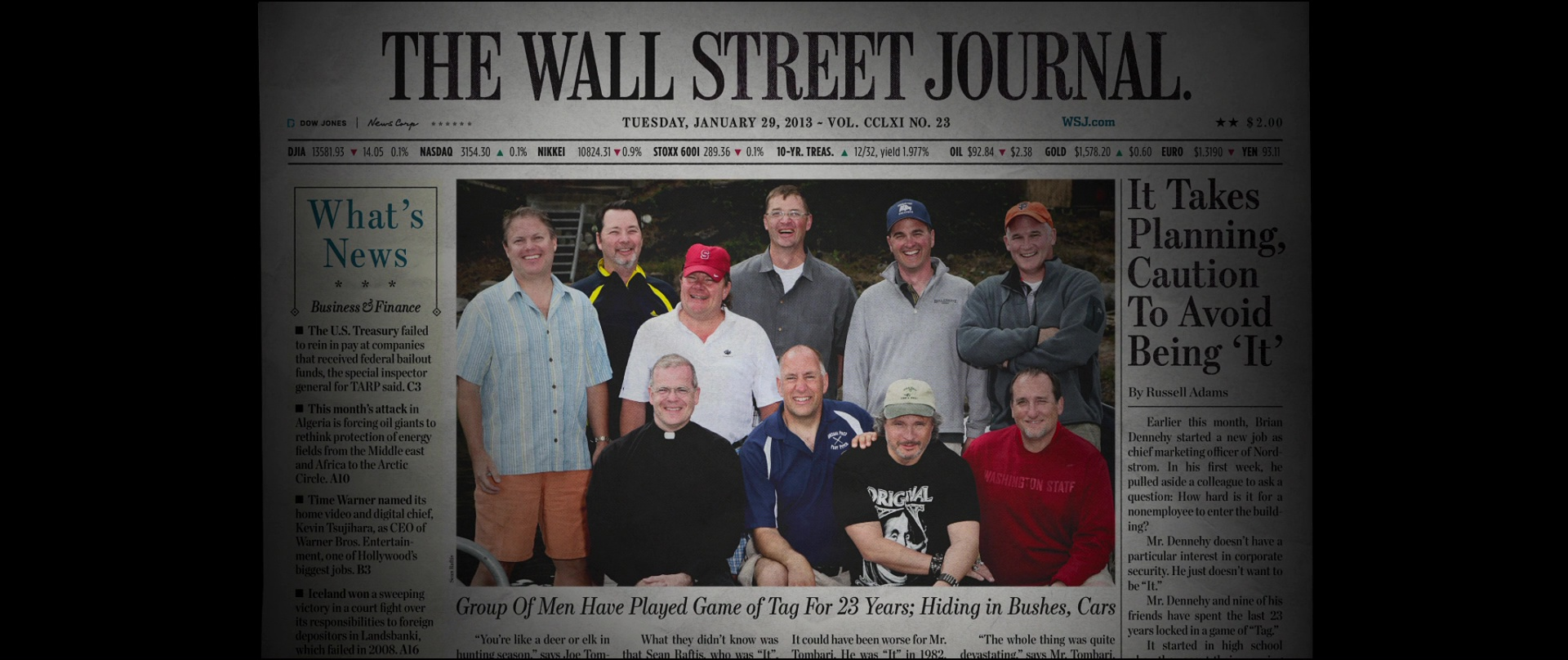 the wall street journal in tag 2018 movie