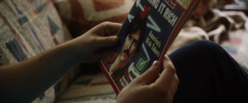 Time Magazine and Steve Jobs (Apple) in Billionaire Boys Club (2018) Movie Product Placement