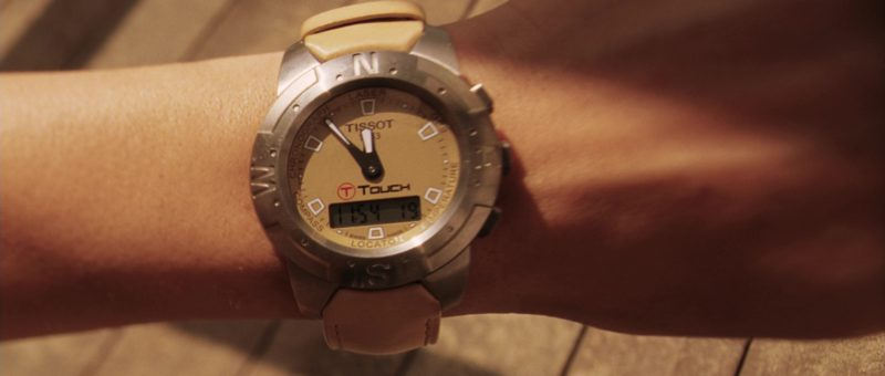 Tissot T-Touch Watch Worn by Angelina Jolie in Mr. & Mrs. Smith (2005) Movie Product Placement