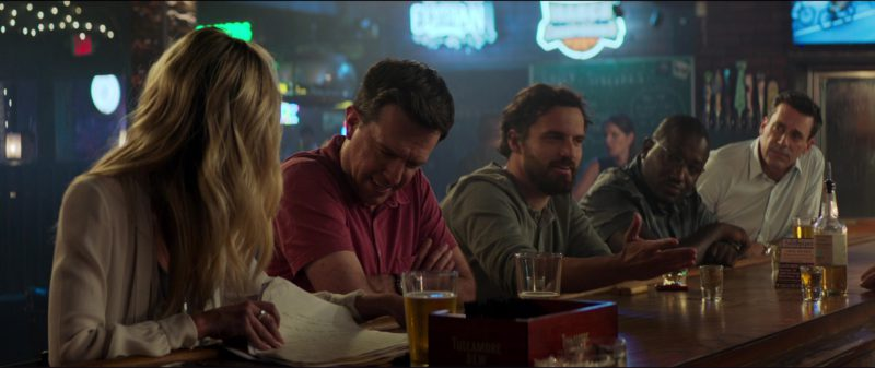 Tullamore Dew Whiskey Straw & Napkin Holder in Tag (2018) Movie Product Placement