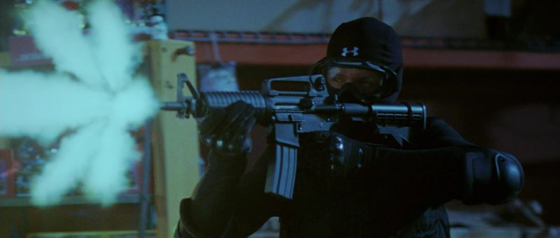 Under Armour Hood and Oakley Tactical Gloves in Mr. & Mrs. Smith (2005) - Movie Product Placement