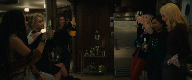 Veuve Clicquot Champagne and Stella Artois Beer in Ocean's 8 (2018) - Movie Product Placement