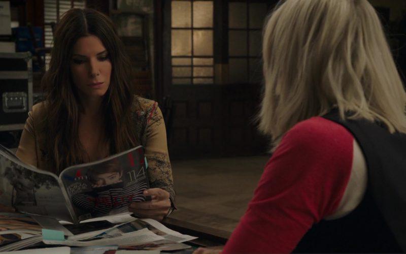 Vogue Magazine Held by Sandra Bullock in Ocean's 8 (1)