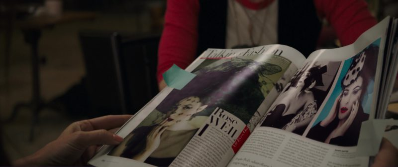 Vogue Magazine Held by Sandra Bullock in Ocean's 8 (2018) Movie Product Placement