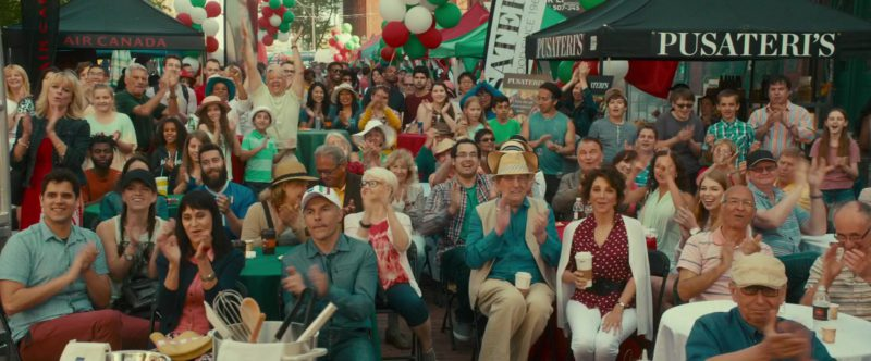 Air Canada and Pusateri's Fine Foods Umbrellas in Little Italy (2018) - Movie Product Placement