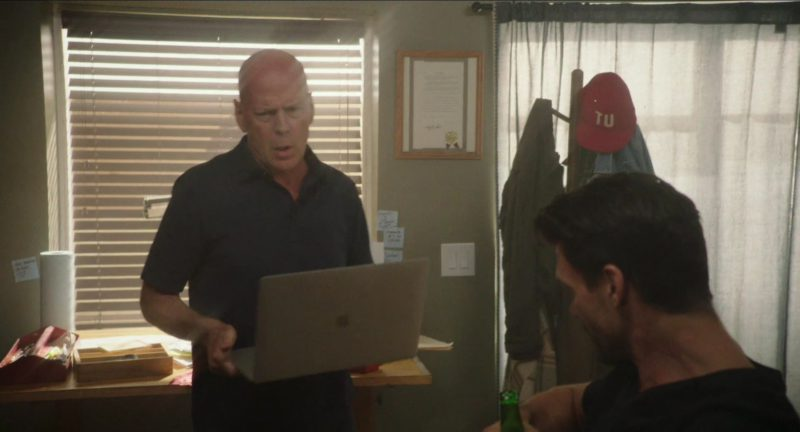 Apple MacBook Used by Bruce Willis in Reprisal (2018) - Movie Product Placement