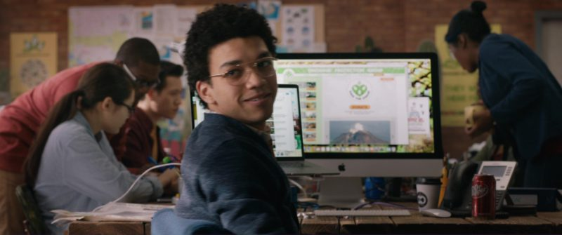 Apple iMac Computer Used by Justice Smith and Dr Pepper Soft Drink in Jurassic World: Fallen Kingdom (2018) Movie Product Placement