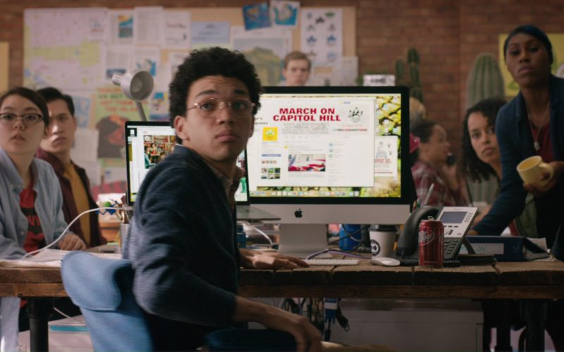 Apple iMac Computer Used by Justice Smith and Dr Pepper Soft Drink in Jurassic World Fallen Kingdom (3)