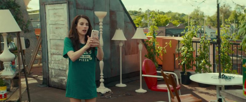 Apple iPhone Smartphone Used by Emma Roberts in Little Italy (2018) Movie Product Placement
