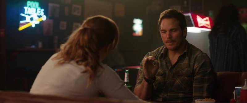 Beck's Beer Drunk by Chris Pratt in Jurassic World: Fallen Kingdom (2018) Movie Product Placement