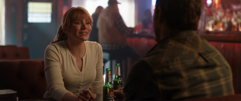 Beck's Beer Drunk by Bryce Dallas Howard in Jurassic World: Fallen Kingdom (2018) - Movie Product Placement