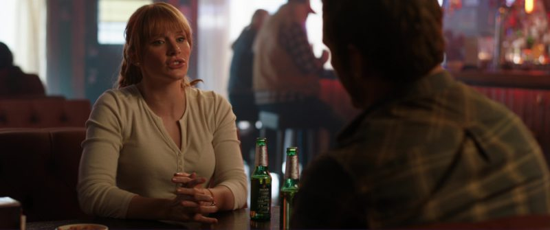 Beck's Beer Drunk by Bryce Dallas Howard in Jurassic World: Fallen Kingdom (2018) Movie Product Placement