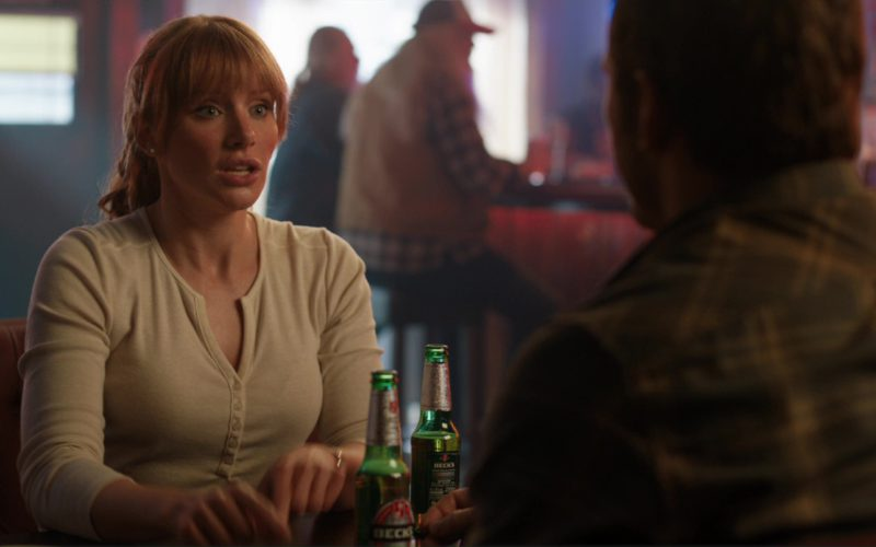 Beck's Beer Drunk by Bryce Dallas Howard in Jurassic World Fallen Kingdom (6)