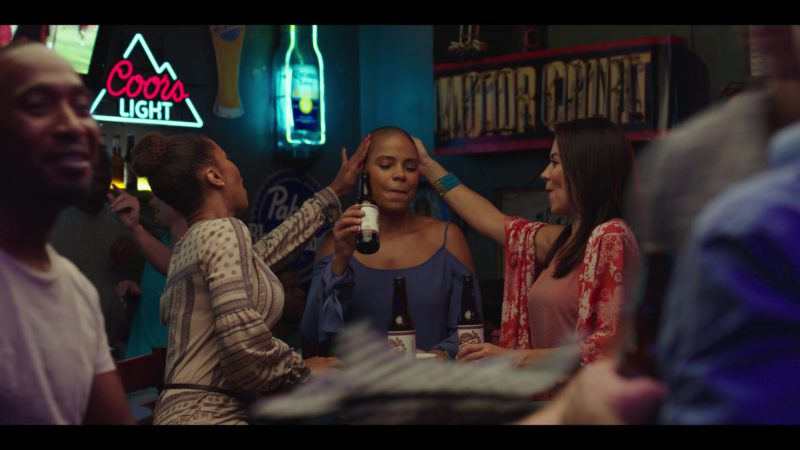 Coors Light, Corona and Pabst Beer Signs in Nappily Ever After (2018) Movie