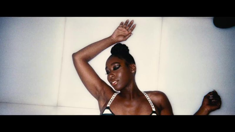 Dior Christian J'adior Striped Swimsuit Worn by Model in Backin' It Up by Pardison Fontaine feat. Cardi B (2018) - Official Music Video Product Placement