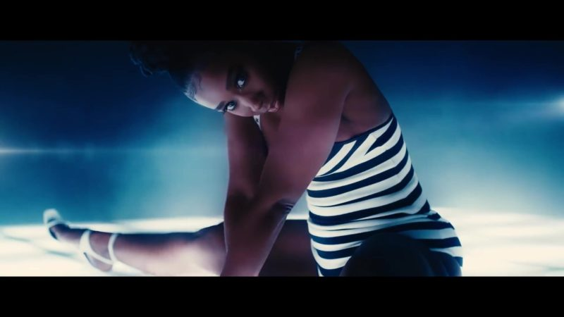 Dior Christian J'adior Striped Swimsuit Worn by Model in Backin' It Up by Pardison Fontaine feat. Cardi B (2018) Official Music Video Product Placement