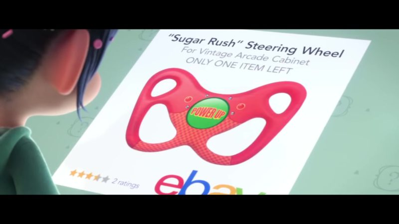 Sugar Rush Steering Wheel For Vintage Arcade Cabinet on Ebay in Ralph Breaks the Internet (2018) - Animation Movie Product Placement