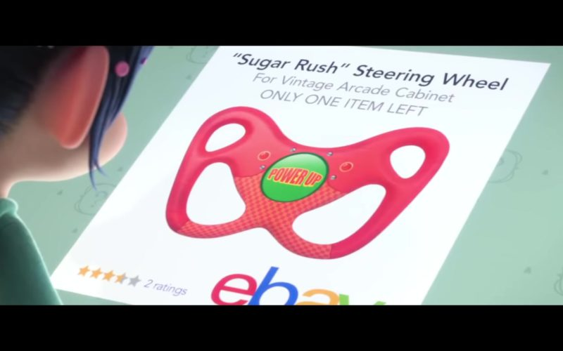 Ebay Product (Sugar Rush Steering Wheel For Vintage Arcade Cabinet) in Ralph Breaks the Internet
