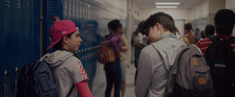 Jansport Backpack in Alex Strangelove (2018) Movie Product Placement