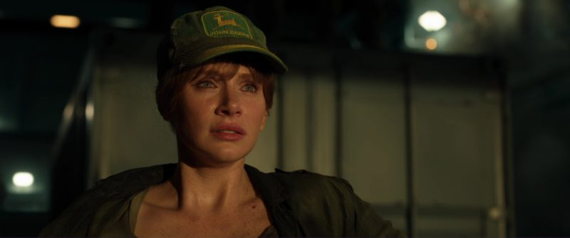 John Deere Cap Worn by Bryce Dallas Howard in Jurassic World: Fallen Kingdom (2018) Movie Product Placement