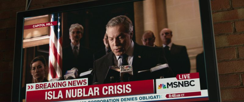 MSNBC TV Channel in Jurassic World: Fallen Kingdom (2018) Movie Product Placement