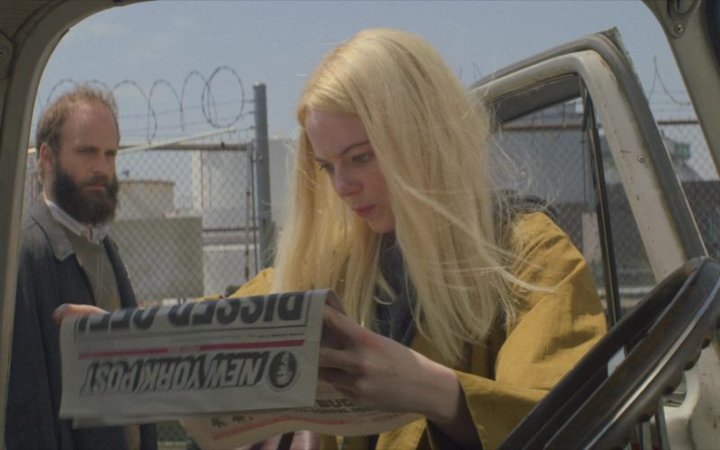 New York Post Newspaper Held by Emma Stone in Maniac (4)