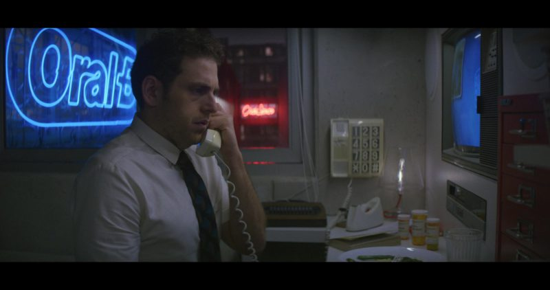 Oral-B Blue Neon Sign in Maniac: The Chosen One! (2018) - TV Show Product Placement