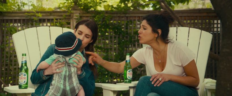 Peroni Beer Drunk by Emma Roberts and Cristina Rosato in Little Italy (2018) - Movie Product Placement