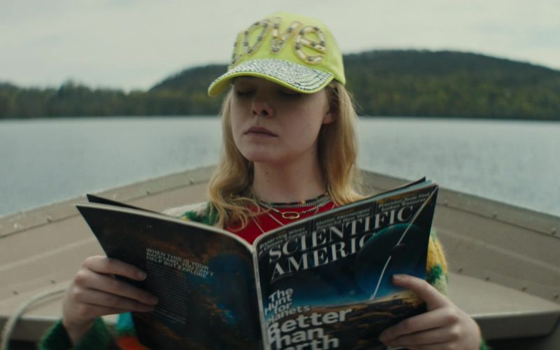 Scientific American Magazine Held by Elle Fanning in I Think We're Alone Now (1)