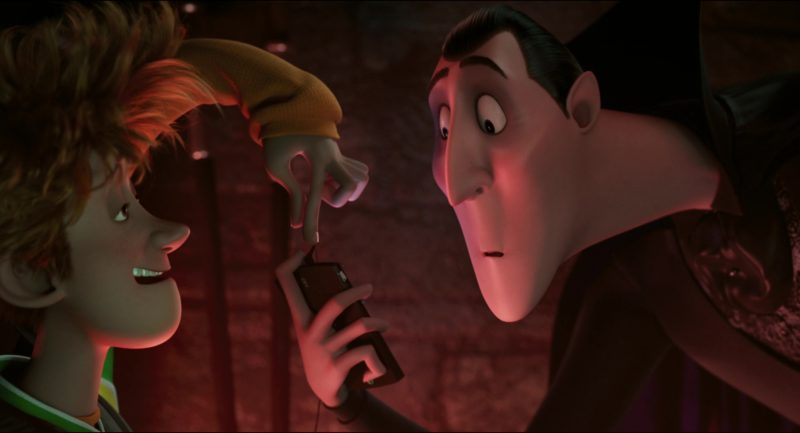 Sony Ericsson XPERIA Smartphone Used by Dracula (Main Fictional Character) in Hotel Transylvania (2012) Animation Movie Product Placement