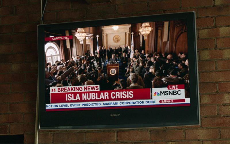 Sony TV and MSNBC Television Channel in Jurassic World Fallen Kingdom (2)