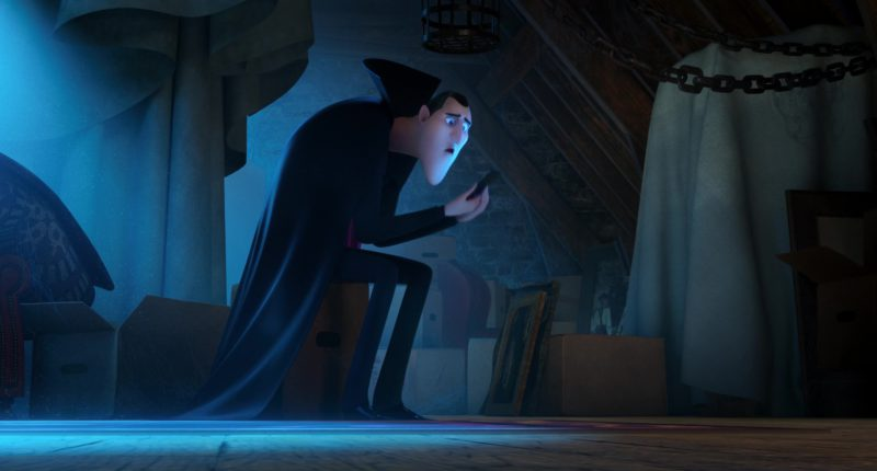 Sony Xperia Smartphone Used by Dracula (Main Fictional Character) in Hotel Transylvania 3: Summer Vacation (2018) Animation Movie Product Placement