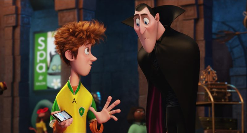 Sony Xperia Smartphone Used by Jonathan (Main Fictional Character) in Hotel Transylvania 2 (2015) Animation Movie Product Placement
