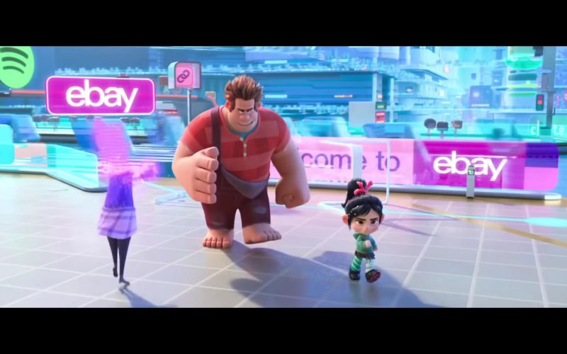 Spotify Logo and Ebay Signs in Ralph Breaks the Internet (1)