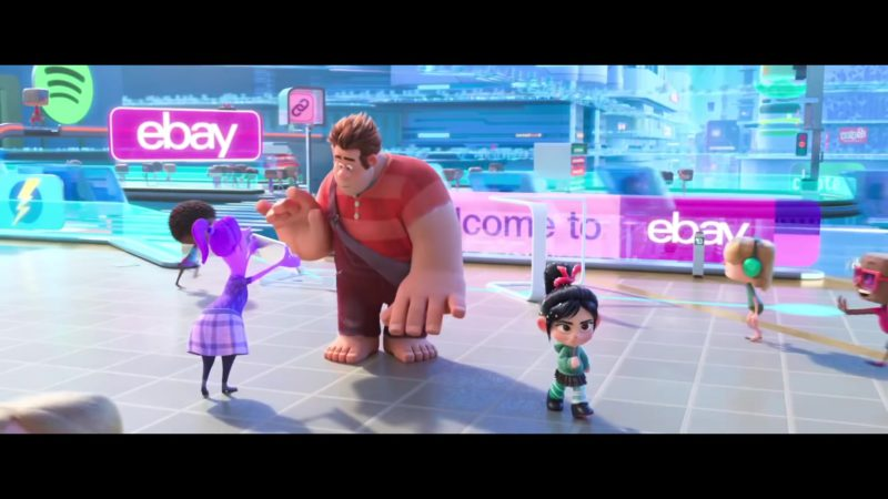 Spotify Logo and Ebay Signs in Ralph Breaks the Internet (2018) - Animation Movie Product Placement