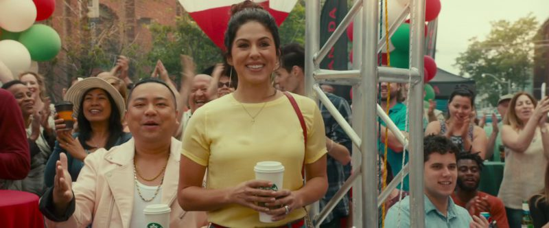 Starbucks Coffee Cups Held by Cristina Rosato and Andrew Phung in Little Italy (2018) - Movie Product Placement