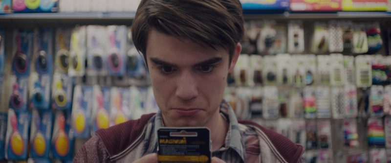 Trojan and Magnum Condoms in Alex Strangelove (2018) - Movie Product Placement