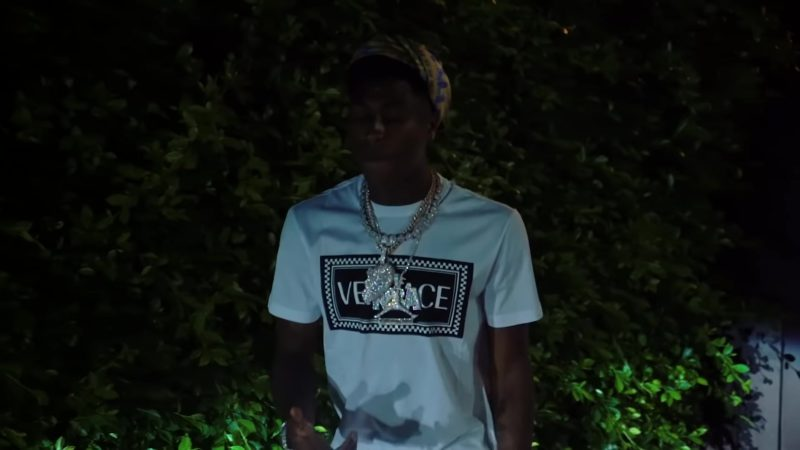 Versace T-Shirt Worn by YoungBoy Never Broke Again in No Mentions (2018) - Official Music Video Product Placement