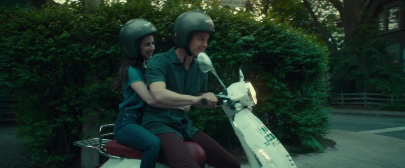 Vespa Helmets Worn by Emma Roberts and Hayden Christensen in Little Italy (2018) - Movie Product Placement